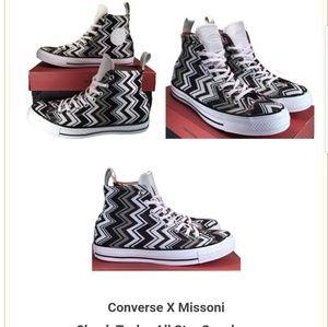 Converse Chuck Taylor Missoni Sneakers 9.5